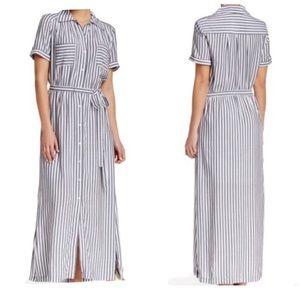 Max Studio Stripe Maxi Shirtdress