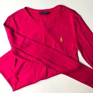 Pink polo long sleeve
