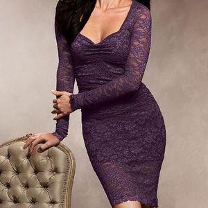 Victoria's Secret purple lace dress