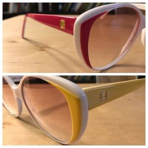 Vintage Happy Sunglasses by Ultra Italy! Cat eye!