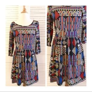 Super Cute Geometric Print Dress, BeBop, Macy's, M