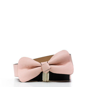 KATE SPADE BOW LEATHER BELT PINK