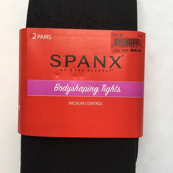 99add1dc2 New Spanx 2 pack body shaping tights black size A