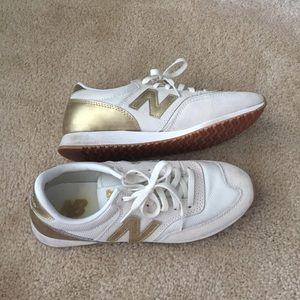 Jcrew New Balance - White & gold - 7.5