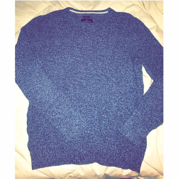 44% off American Eagle Outfitters Other - AE Heather Blue Sweater ...