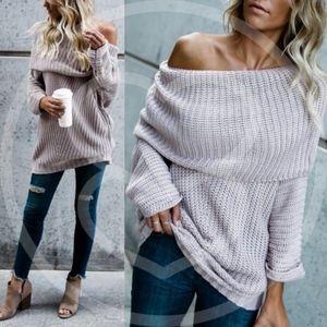 SYDNEY sweater top - MAUVE