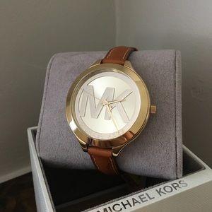 Michael Kors Brown Leather watch NIBWT MK2326