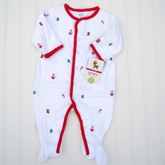 Carter's Pajamas | Baby First Christmas Embroidered Sleeper | Poshmark