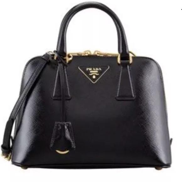 60cb239f9c49 Prada Small Saffiano Promenade Bag leather black. M_59dbdb0478b31c1c09009584