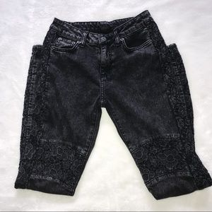 LF Carmar Embroidered Moto Jeans   25