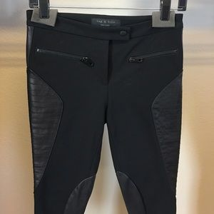 Rag and Bone leather panels pants