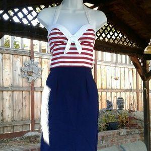 Nautical pencil dress