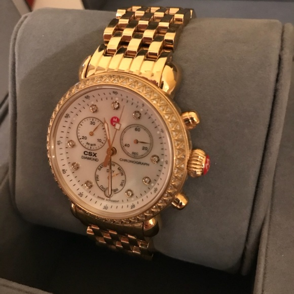 e26cd338ef808 Michele CSX-36 Chronograph Diamond Gold watch