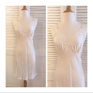 """1950's 100% Silk Slip, Vintage Silk Slip, 34"""""""
