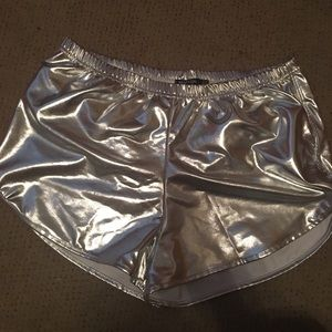 Nasty Gal Metallic Shorts