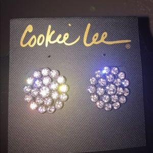Genuine Crystal Pierced Earrings