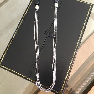 Jewelry - Multi strand silver tone necklace with bead detail