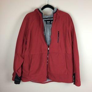Men's Layer 8 fuzzy lined zip up hoodie