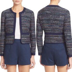 Diane Von Furstenberg Alberta Woven Tweed Jacket