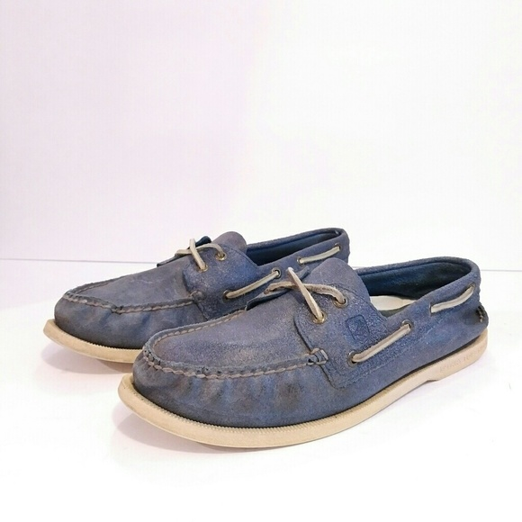 Sperry Shoes   Mens Sperrys Blue Suede
