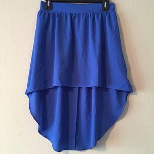 Cobalt Chiffon Skirt
