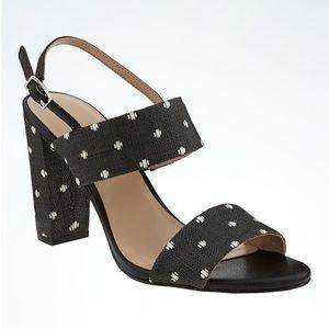 Banana Republic Double Strap Block Heel Sandal
