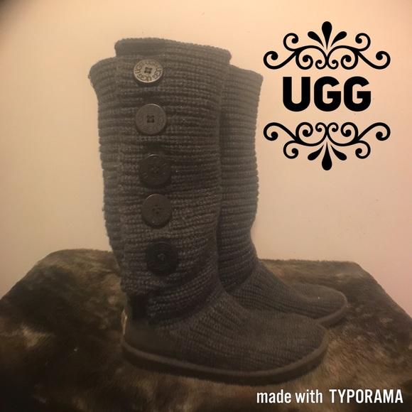 a0b2124d4da Ugg Australia Tall Knit Cardy Boots. S/N 1878 US 5
