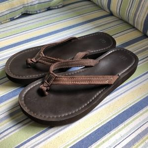 GAP Brown Flip Flops, Women's size 8