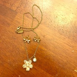 Coach Gold earring and necklace set