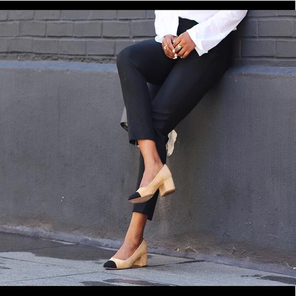 083b7f7b5844 Zara mid-heel two tone block heels