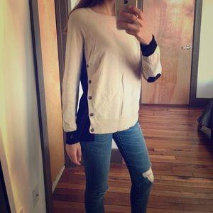 JCREW elbow pad sweater size s