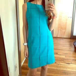 CALVIN KLEIN turquoise Shift Dress Size 6