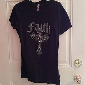Tops - Black Tee with Bling