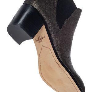 8feb372e9c3a33 Sam Edelman Shoes - Sam Edelman Metallic Justin Leather Ankle Boot 7