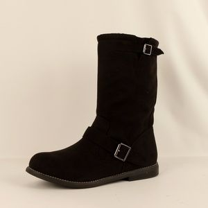 Report Faux Suede Mid Calf Boot (Buhler Black)