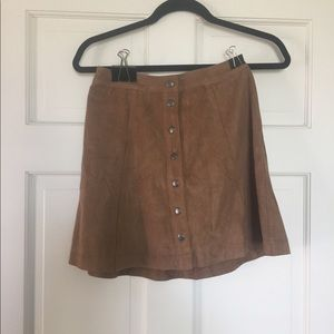 Abercrombie and Fitch suede tan skirt size 00