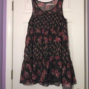 Floral Layered Babydoll Dress