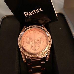 Rose gold remix watch