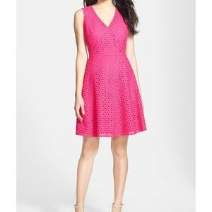 Halogen Fit and Flare Eyelet Sleeveless Dress