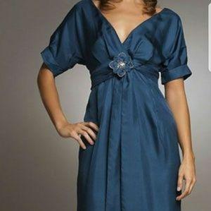 💥SALE..Rebecca Taylor blue silk dress