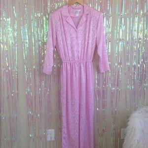 vintage 1980s pink pastel 80s pants jumpsuit B19