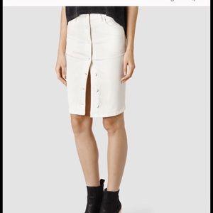 All Saints Button Up Skirt