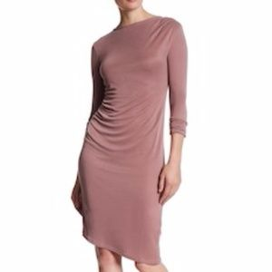 Topshop Rose Pink Long Sleeve BodyCon Midi Dress