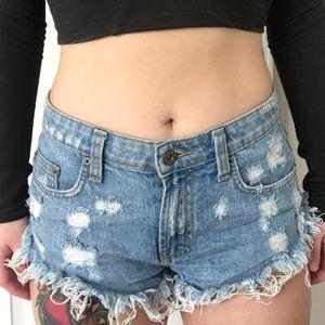 LF stores denim shorts