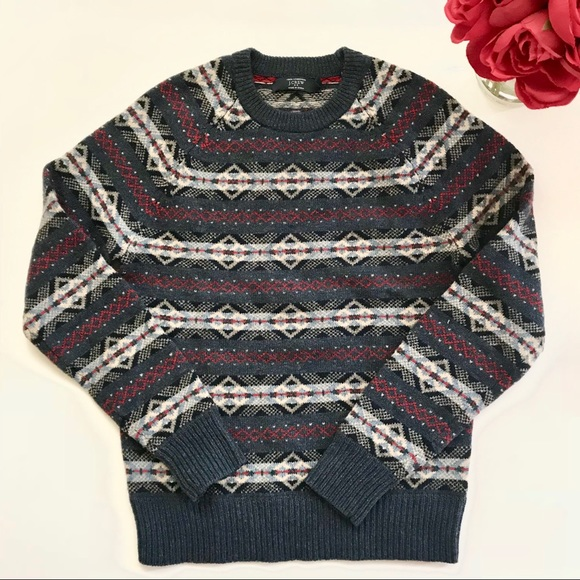 73% off J. Crew Other - ✨ mens J. Crew factory fair isle sweater ...