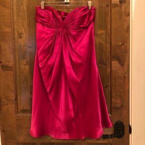 Laundry by Shelli Segal Silk Strapless Dress