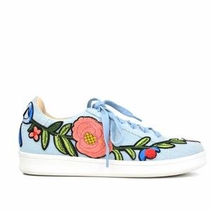 Chase & Chloe  Denim Floral Women's Sneakers