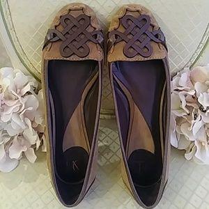 Diane von Furstenberg Embellished Suede Flats