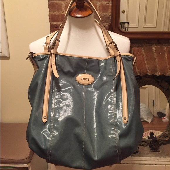 aef9cd4f93 Tod's G Line Wax Coated Green Canvas Shopper Bag.  M_59dbfc885c12f86cf2011757. Other Bags ...