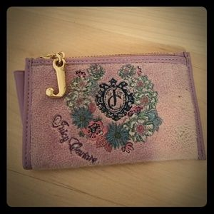 JUICY COUTURE Purple Floral Coin Purse